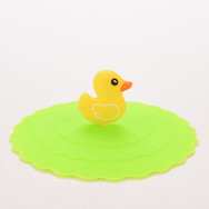 Couvercle Silicone Canard Jaune
