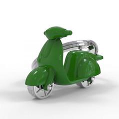 Porte clés Scooter Vert
