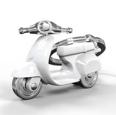 Porte clés Scooter Retro Blanc