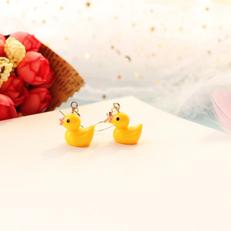 Boucles d'Oreilles Canard Jaune