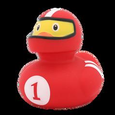 Canard Pilote de Course Rouge