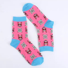 Chaussettes Chat Roses