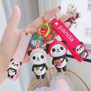 Porte Clés Panda Fruit