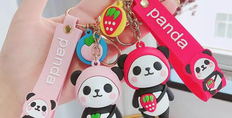 Panda Fruit Keychain