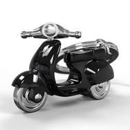 Porte clés Scooter Retro Noir