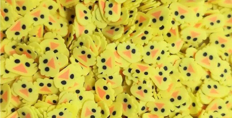 Confettis Tête de Canard Jaune