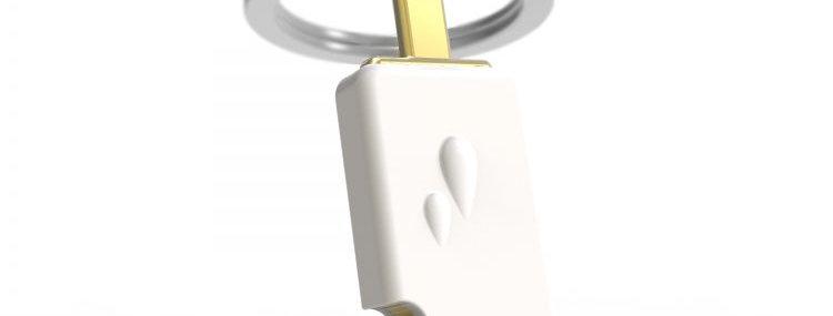 Porte clés Glace Vanille