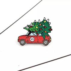 Pins Mini rouge avec sapin de Noël
