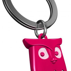 Porte clés Hibou Rose