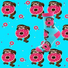Chaussettes Paresseux Donuts
