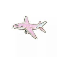 Pins Avion de Ligne Rose