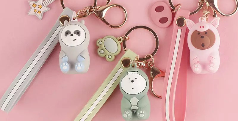 Disguised Bear Keychain
