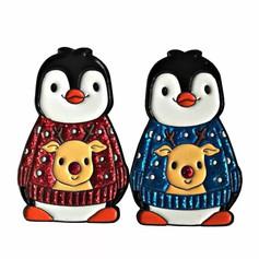 Pins Pingouin Pull de Noël