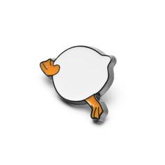 Pins Canard Popotin Blanc
