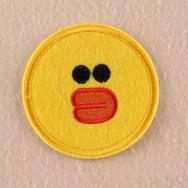Badge Brodé Canard Jaune Rond