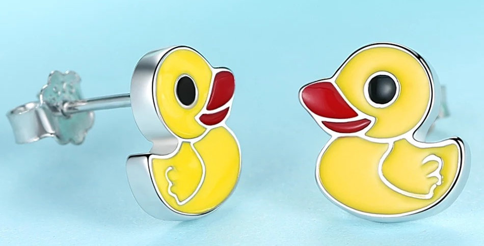 Boucles d'Oreilles Canard