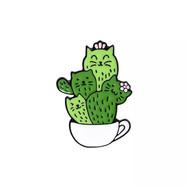 Pins Chats Cactus
