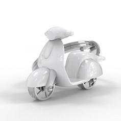 Porte clés Scooter Blanc