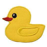 Badge Brodé Canard Jaune