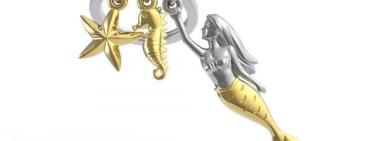 Porte clés Sirène
