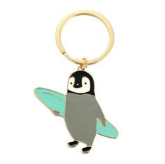 Porte Clés Pingouin Surfeur