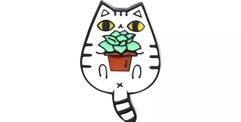 Pins Chat pot de Fleur