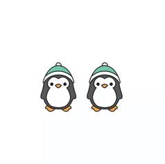 Boucles d'Oreilles Pingouin Bonnet