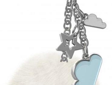 Blue Cloud Bag Charm