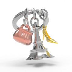 Porte clés Tour Eiffel Argentée