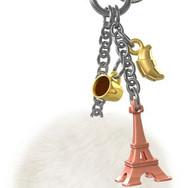 Bijou de Sac Tour Eiffel Rose