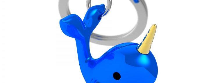 Porte clés Narval Bleu