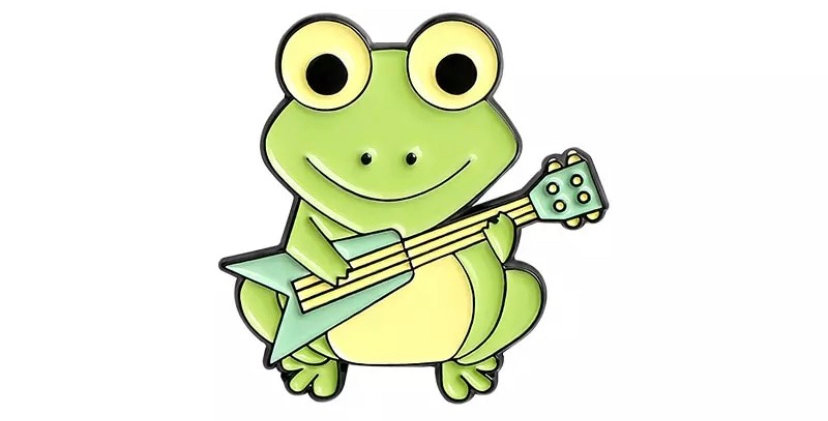 Pins Grenouille Guitare