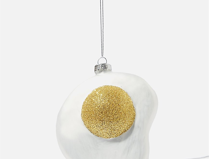 Fried Egg Christmas bauble