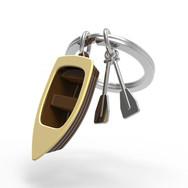 Porte clés Barque Marron