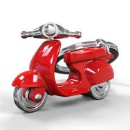 Porte clés Scooter Retro Rouge