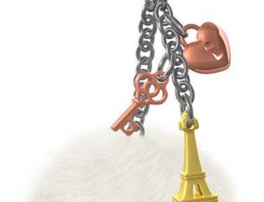 Gold Eiffel Tower Bag Charm