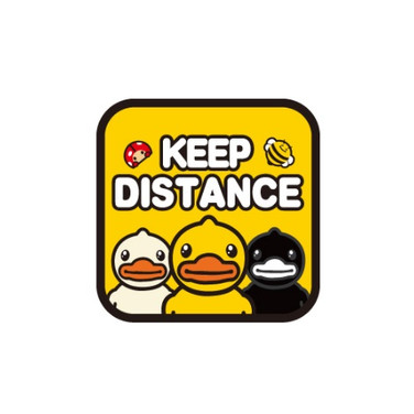 Autocollant Canard Voiture Keep Distance