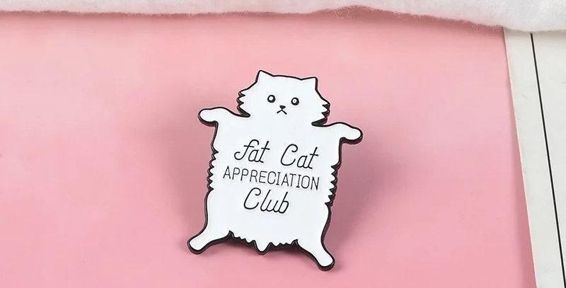 Pins Chat Fat Cat Club
