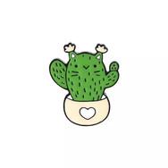 Pins Chat Cactus en pot