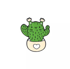 Pins Chat Cactus en pot