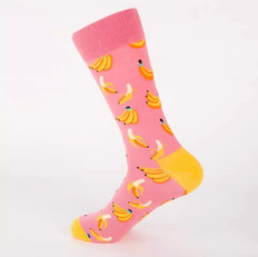 Chaussettes Banane Roses