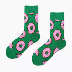 Chaussettes Donuts Vertes