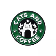 Pins Chat Cats and Coffee