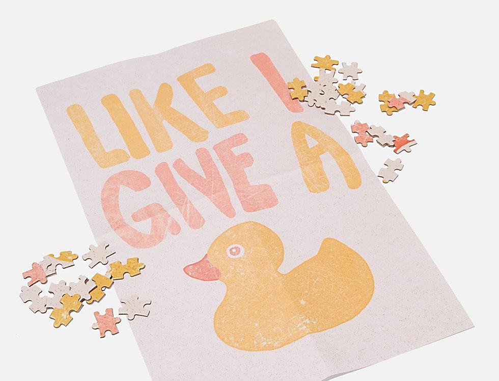 "Puzzle Canard ""like I give a duck"""