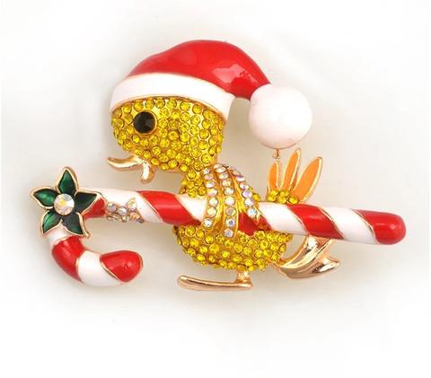 Broche Canard Noël