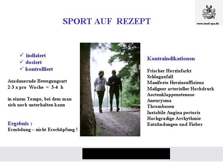 Sport auf Rezept