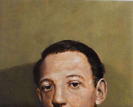 Primate series XI, 45x36cm, oil on canvas, 2018 Luís Troufa