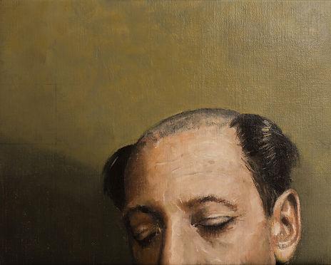 Primate series XIII, 45x36cm, oil on canvas, 2018 Luís Troufa