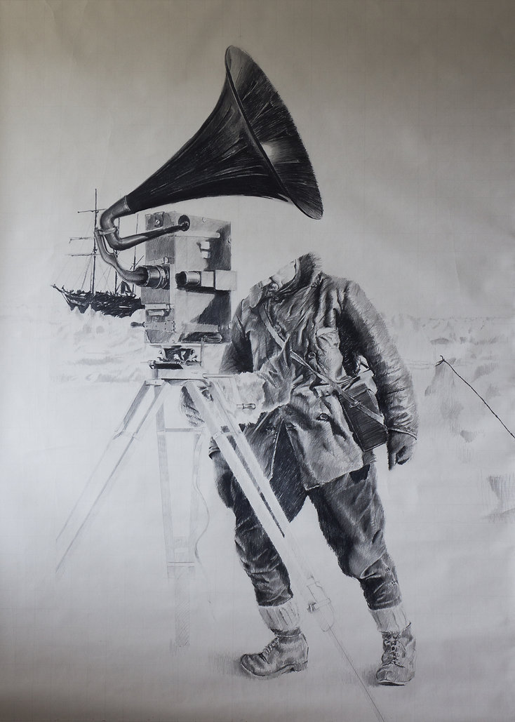 2015, Expedition, 164x120 cm, pencil on paper