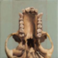 Primate series XII, 36x36cm, oil on canvas, 2018 Luís Troufa